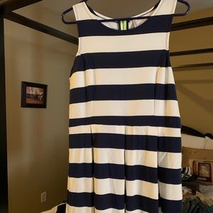 Never worn navy and cream striped dress